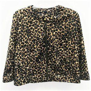Ruby Rd Animal Print Jacket